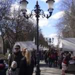 Little open air market in the town centre,  for the Spring - Tavaszi Festival