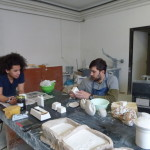 Kahlil David working in the plaster room, and some new moulds.