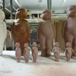Some of the new cast and press moulds I have made since coming home.